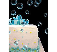 Happy Birthday Bubbles Photographic Print