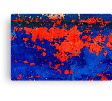 Rusty grunge aged steel iron paint background  Canvas Print