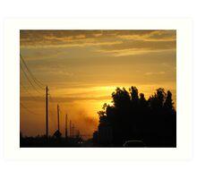 Semi Sunrise Art Print