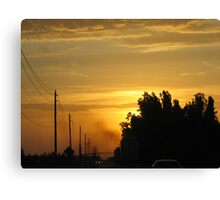 Semi Sunrise Canvas Print