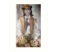 Portrait of a Man in a Hat Art Print