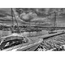 Aker Brygge in Oslo. Norway, boats Photographic Print