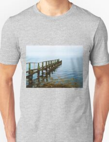 Beautiful seascape of a wooden footbridge Unisex T-Shirt