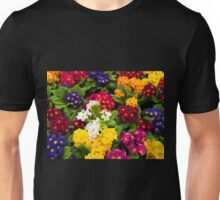 Bunch of multi colored flowers arranged together Unisex T-Shirt