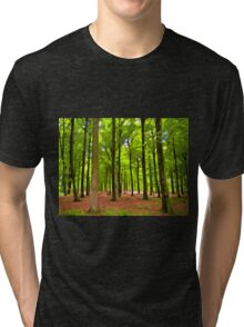 Beautiful lush Forest landscape Tri-blend T-Shirt