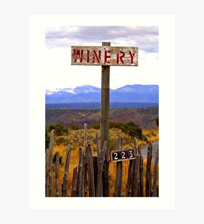 The winery Art Print
