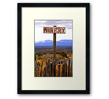 The winery Framed Print