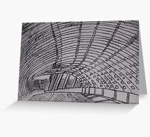 Sound Tunnel Greeting Card