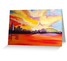 Sydney Harbour Sunset Greeting Card