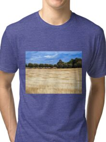 Beautiful wheat field landscape Tri-blend T-Shirt