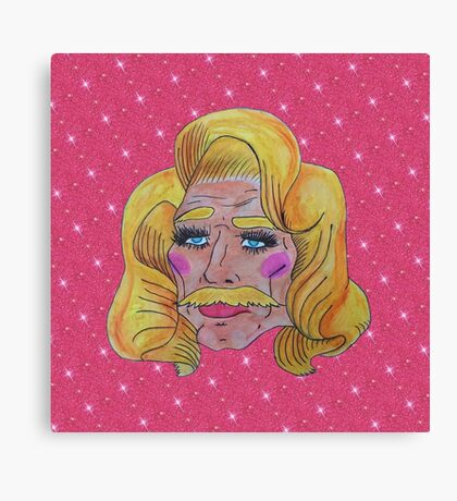 Butch Queen: First Time In A Lacefront Canvas Print