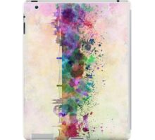 Budapest skyline in watercolor background iPad Case/Skin