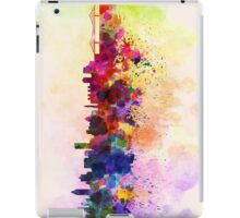 Montreal skyline in watercolor background iPad Case/Skin