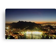 Rio by Night 1 Canvas Print