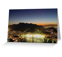 Rio by Night 1 Greeting Card