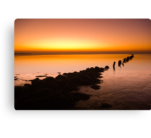 A beautiful evening on the coast Canvas Print