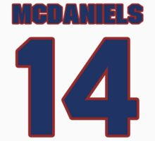 Basketball player K.J. McDaniels jersey 14 by imsport