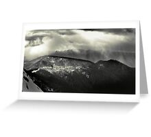 Afternoon Snow Shower, Mount Buller Greeting Card