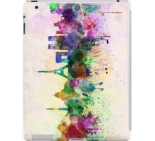Paris skyline in watercolor background iPad Case/Skin