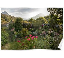Cottage garden in Wales Poster