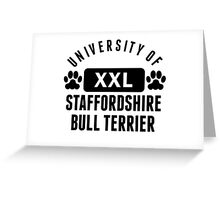 University Of Staffordshire Bull Terrier Greeting Card