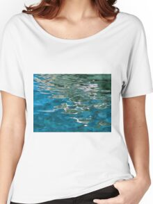 Blue water ripples background Women's Relaxed Fit T-Shirt