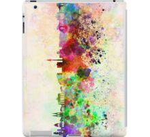 Berlin skyline in watercolor background iPad Case/Skin