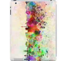 Berlin skyline in watercolor background iPad Case/Skin