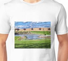 Beautiful classical garden fish pond gardening background Unisex T-Shirt