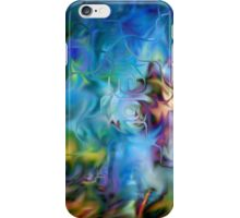 abstract art, blue, purple, yellow, white, red iPhone Case/Skin