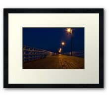 Shorncliffe Pier at Night Framed Print