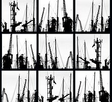 Cranes, cables and masts by awefaul