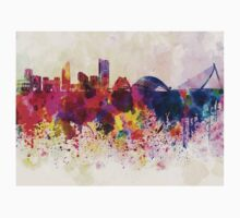Valencia skyline in watercolor background Kids Clothes