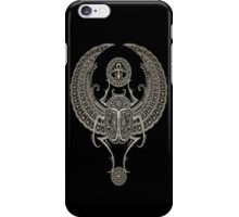 Dark Winged Egyptian Scarab Beetle with Ankh  iPhone Case/Skin