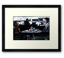 Heat Coffee Shop Framed Print