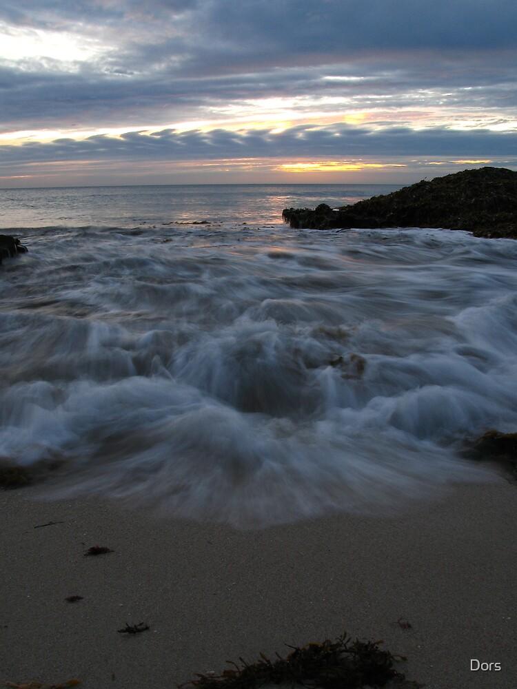 Ocean Sunset Blanket by Dors