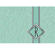 1920s Blue Deco Swing with Monogram letter R Photographic Print