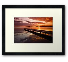 Warners Bay Sunset 2 Framed Print
