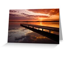 Warners Bay Sunset 2 Greeting Card