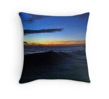 Crystal Ocean Fire Sky Throw Pillow