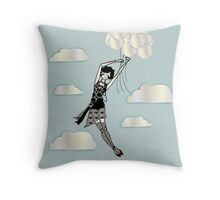 Floating Flapper Throw Pillow