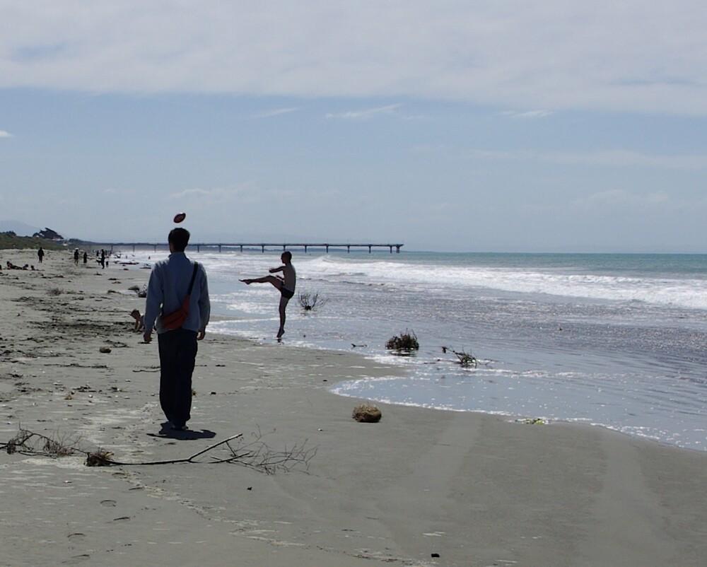Beach scene..a bit weird. by Geoff46