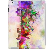 Rome skyline in watercolor background iPad Case/Skin