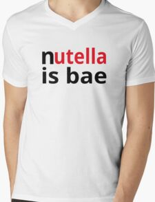 Nutella Is Bae Mens V-Neck T-Shirt