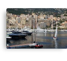 Monte Carlo Sailing - Monaco, French Riviera  Canvas Print