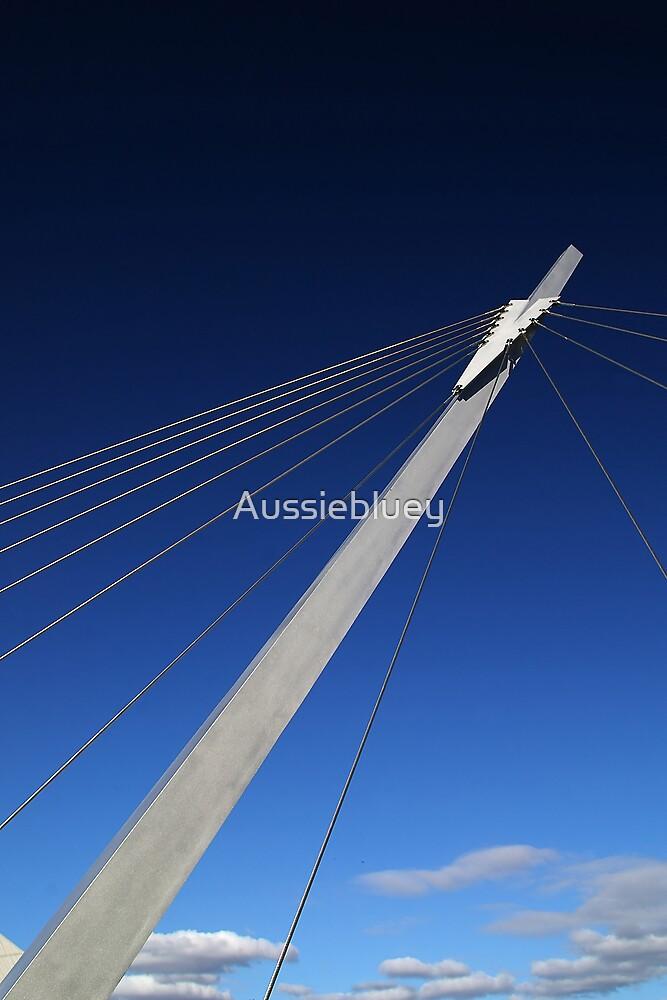 Footbridge support. by Aussiebluey