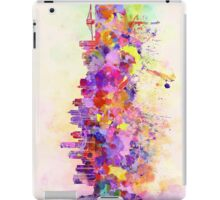 New York skyline in watercolor background iPad Case/Skin