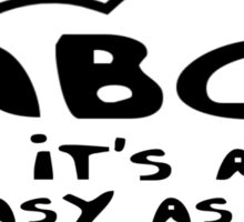 ABC it's as easy as 123 by Bubble-Tees.com Sticker