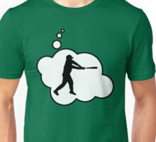 Baseball Player Swing by Bubble-Tees.com Unisex T-Shirt