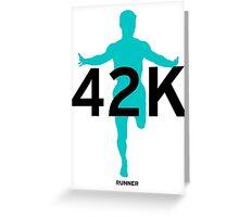 42K Marathon Greeting Card